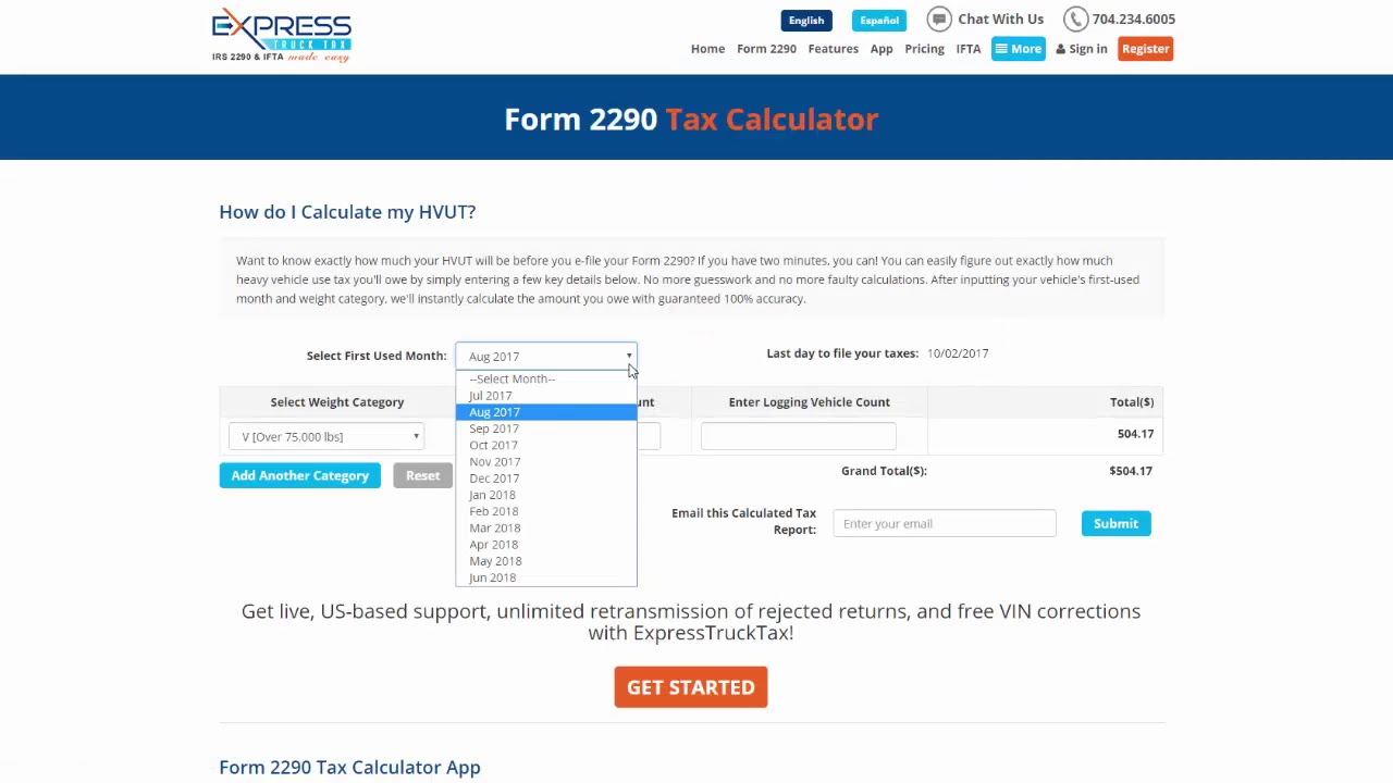 How Do I Calculate My HVUT for Form 2290? - YouTube