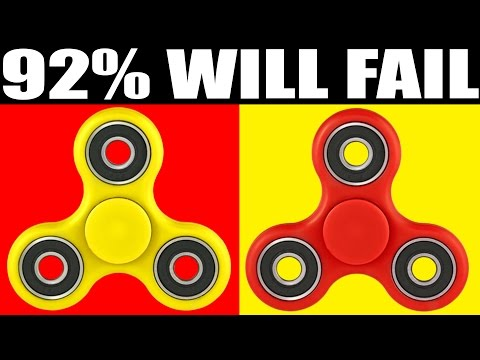 Thumbnail: 92% CANT SPOT THE DIFFERENCE (IMPOSSIBLE FIDGET SPINNER CHALLENGE)
