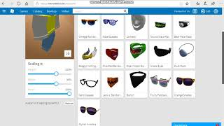 ROBLOX How to wear 2 face accessories
