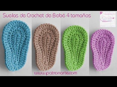 Suelas De Crochet Para Bebé