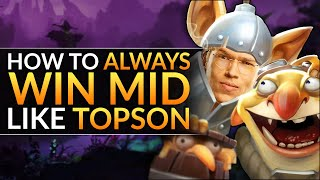 How Topson ALWAYS WINS MID  EVEN ON TECHIES  CRAZY Tips and Tricks (Mid Lane)  Dota 2 Guide