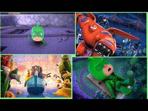 PJ Masks Big Hero 6 Cloudy With A Chance Of Meatballs Puzzle Games For Kids