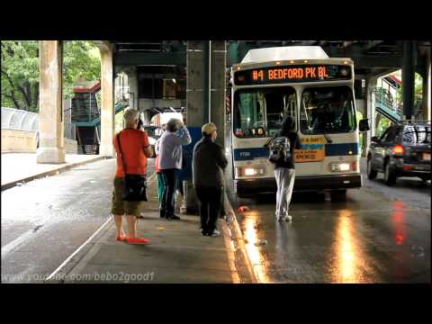 NYCTA (4) Train Shuttle Bus at Jerome Avenue & The Mosholu Parkway Station