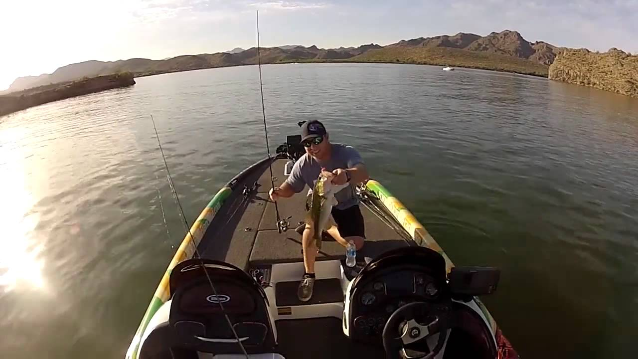 Prostaff trip saguaro lake az youtube for Saguaro lake fishing report
