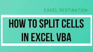 VBA Split Function - How to Split Cells in Excel VBA