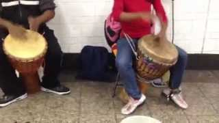 African Drumming In The Subway
