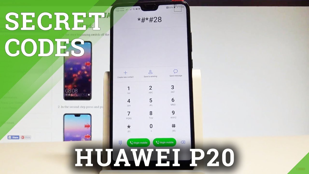 Secret Codes HUAWEI P20 - Ticks / Hidden Mode / Secret Options  |HardReset Info