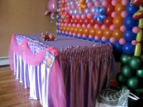 Decoracion Con Globos Backyardigans - YouTube