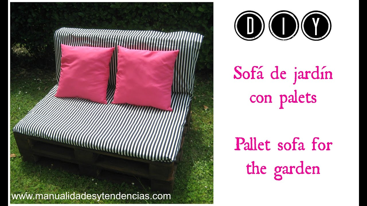 diy sof de jardn de palets pallet sofa for the garden
