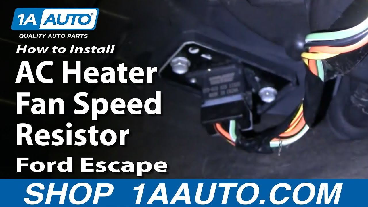 how to install replace ac heater fan speed resistor ford escape 01 rh youtube com Blower Motor Resistor Diagram Ford Blower Switch Diagram