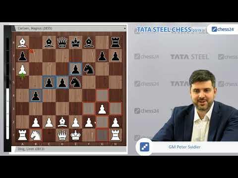 Ding Liren-Carlsen, Tata Steel Chess 2019: Svidler's Game of the Day