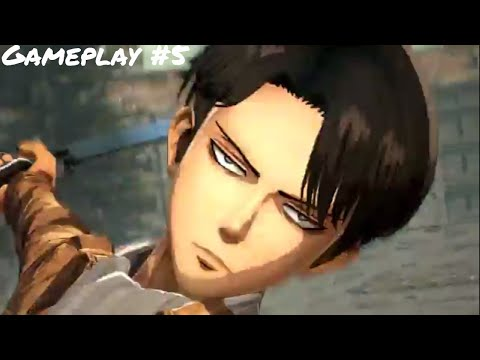 Attack On Titan Wings Of Freedom PC Levi Gameplay 5