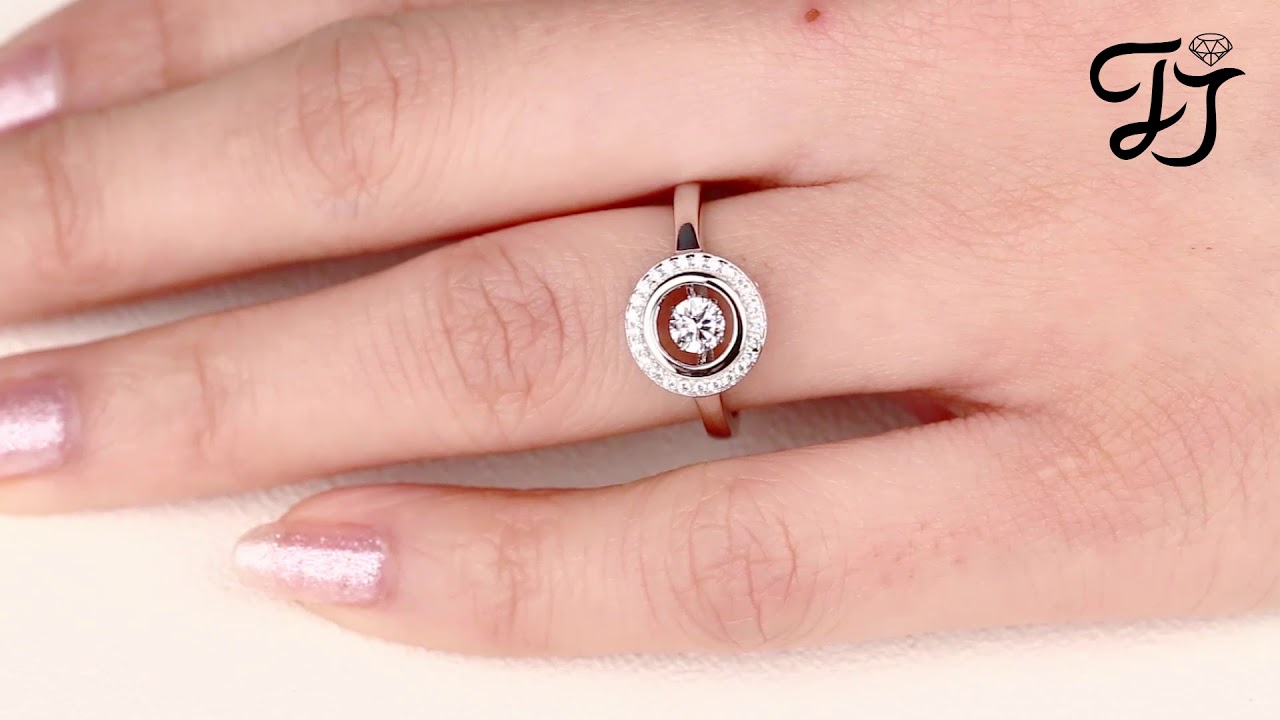 Sterling Silver Dancing CZ Round Rings-Best Mothers Day Gifts 2018 ...