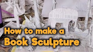 How to make a Book Sculpture | Totally Rubbish - CBBC | Paper Art