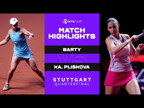 Ash Barty vs. Karolina Pliskova   2021 Stuttgart Quarterfinal   WTA Match Highlights