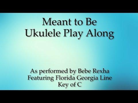 Meant To Be Ukulele Play Along Youtube