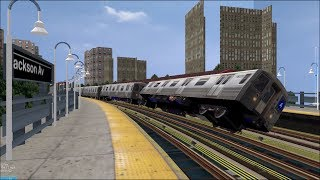 OpenBVE HD Troll: NYC Subway 100 MPH Tilting R68s On The 5 Express Train (White Plains Road)