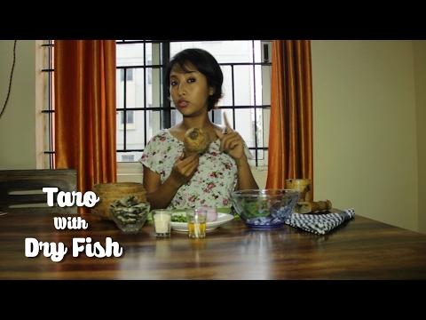 Dry Fish gravy with Taro   Northeast Indian Food