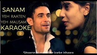 yeh raaten yeh mausam | sanam | karaoke | karaoke with lyrics | simran sehgal