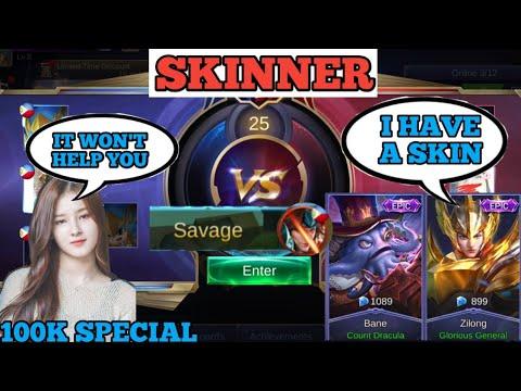 PRO VS SKINNER   100K SPECIAL   MOBILE LEGENDS TV