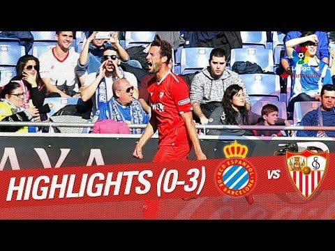 Resumen de RCD Espanyol vs Sevilla FC (0-3)