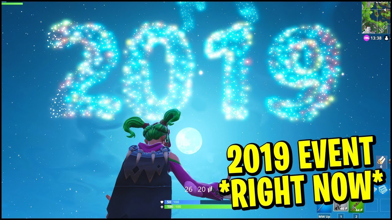 Fortnite 2019 NEW YEAR Event Is Happening *RIGHT NOW* (In-Game Footage)
