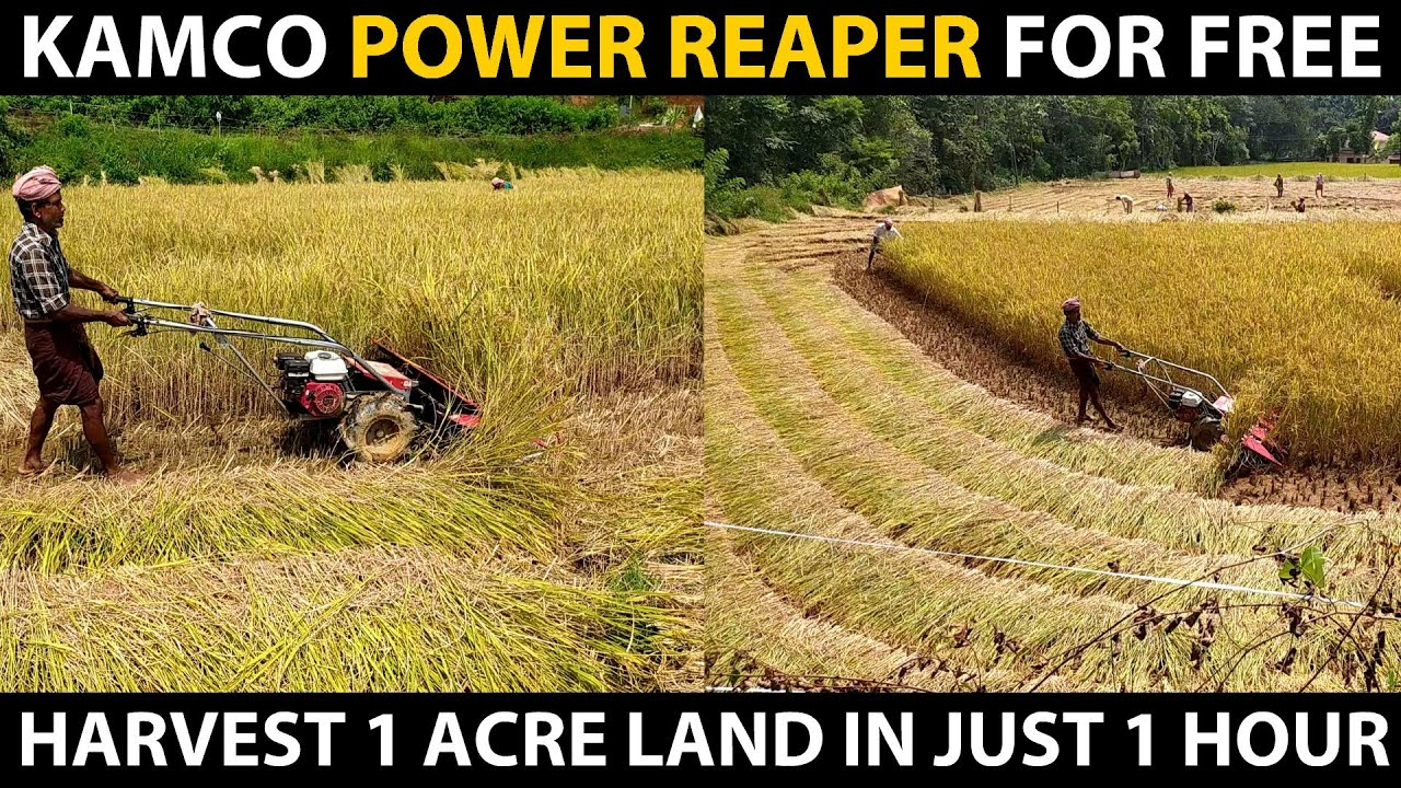 Free KAMCO Power Reaper Machine for Farmers..! Rice/Paddy, Wheat, Maize, Soya Bean Harvester Machine