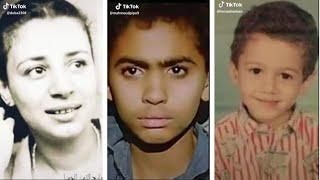 تحدي مراحل العمر في تيك توك الجديد صور الممثلين و مشاهير عرب و اجانب  من القديم الي الجديد حاليا