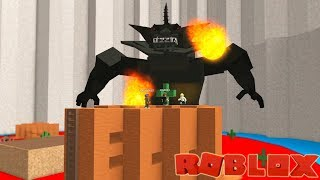A Giant Fire Breathing Monster in Roblox / Disaster Dome / Gamer Chad Plays