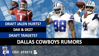 Cowboys Rumors On Dez Bryant & Dak, Drafting Jalen Hurts, Patrick Peterson Trade & Antonio Brown?