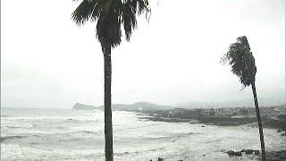 Typhoon hits Japan, grounding hundreds of flights