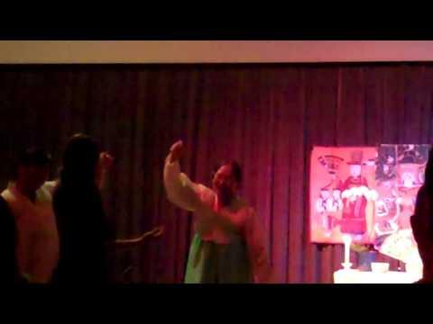 Korean Shaman Kim Kuem Hwa Leading A Shaman Dance