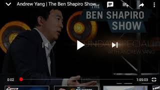 Andrew Yang Vs Ben Shapiro Debate Review #YangGang