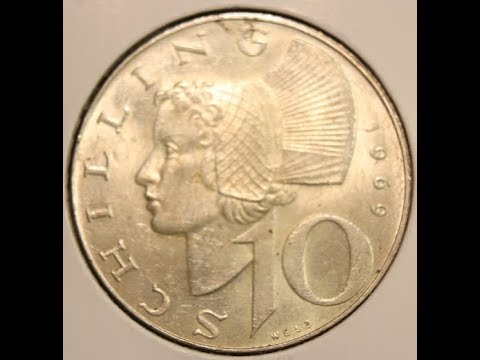10 Schilling coins of AUSTRIA in HD