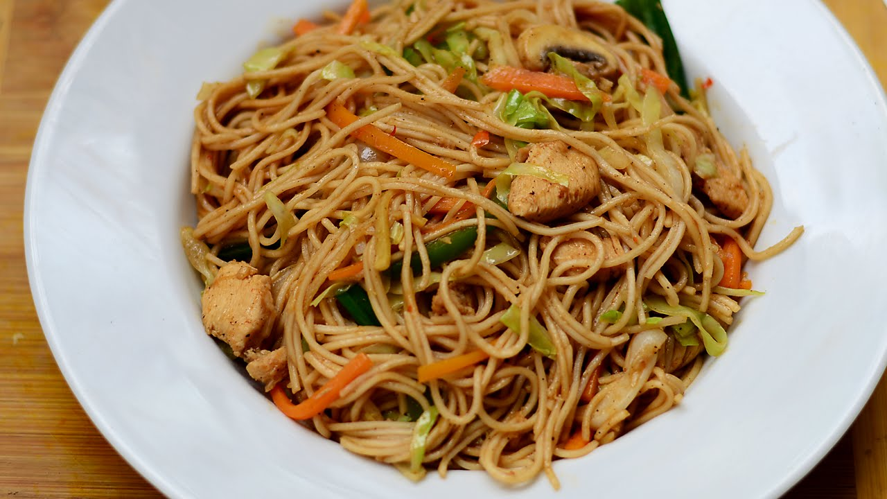 Chicken Noodles | Chicken Chow Mein Recipe | Chinese Noodles | Chicken ...