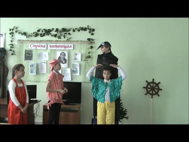 """Изображение предпросмотра прочтения – «Школьный театр """"Радость""""» читает произведение «Свинья под дубом» И.А.Крылова"""
