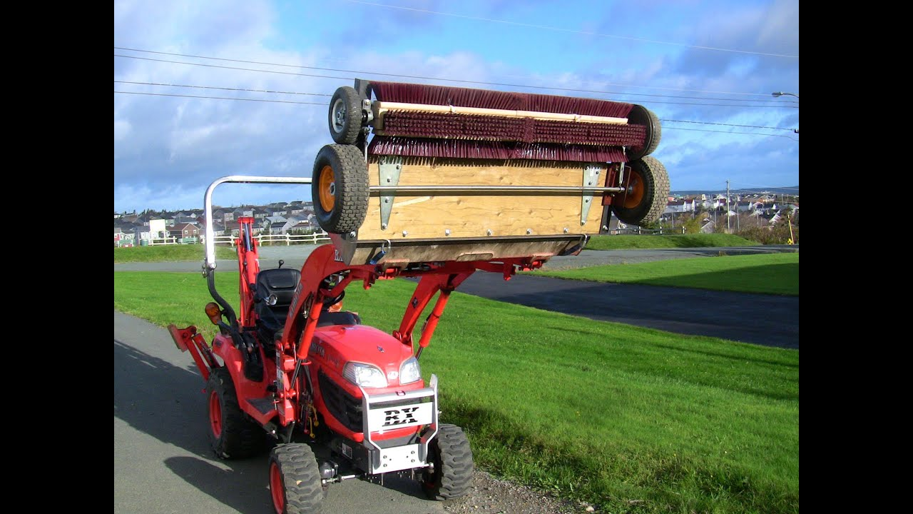 Rotary Broom Sweeper : Homemade rotary broom for tractor build details youtube