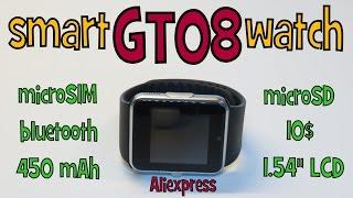 ►Unboxing GT08►SmartWatch 10$ │Aliexpress česky - TEST - návod - recenze CZ chytré a levné hodinky