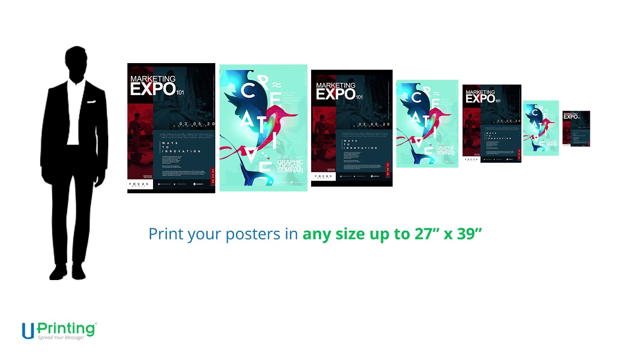 bulk poster printing size and paper options youtube