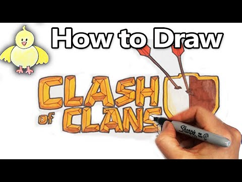 How to Draw the Clash of Clans Logo  Step by Step
