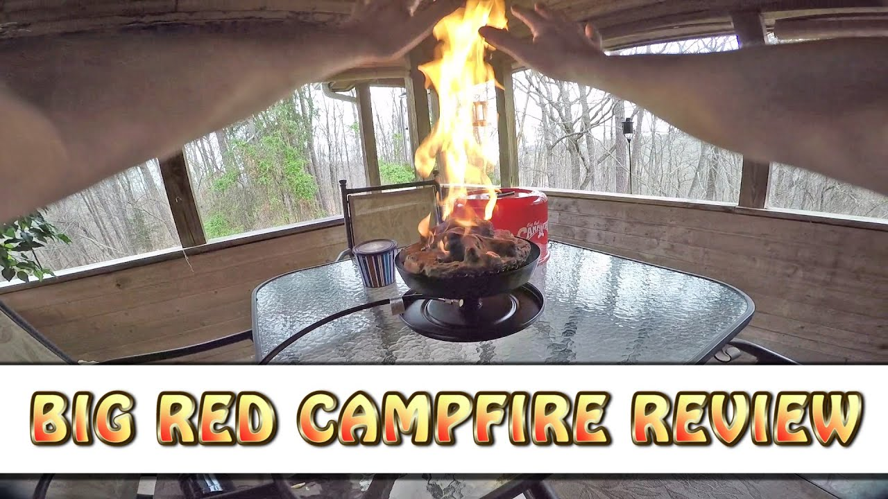 Big Red Campfire By Camco Review Best Way To Build A Campfire Quick Youtube