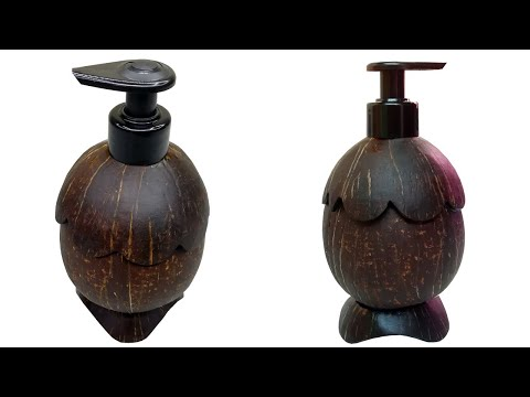 Sanitizer Dispenser |Coconut Shell Craft Ideas |Waste Material To Useful Organizer