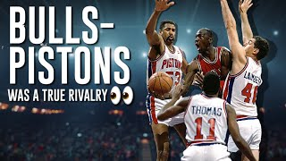 The Biggest Fights Of The Bulls-Pistons Rivalry