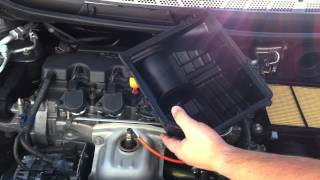 how to change honda civic engine air filter 8th gen 2006 2011