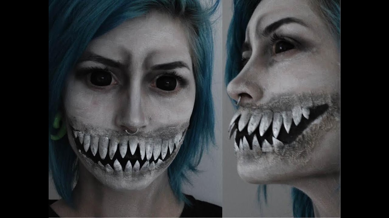 White Halloween Face Paint