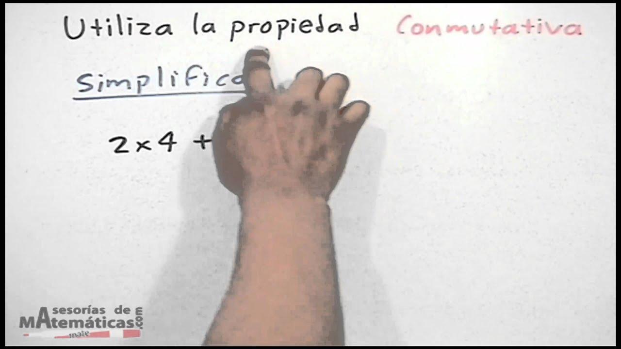 Ejercicio donde se aplica la propiedad conmutativa - YouTube
