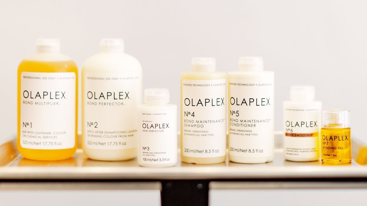 HOW TO USE OLAPLEX & PREVENT HAIR DAMAGE | ENTIRE Product Line ...
