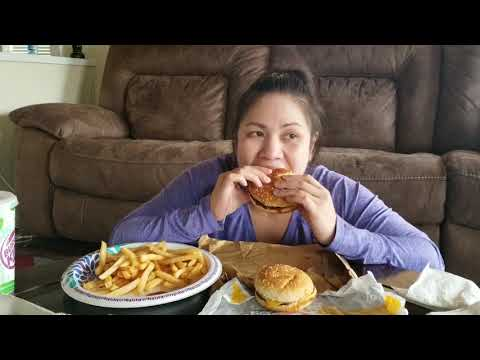 Burger king  coupon mukbang/eating show