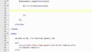 jQuery Events - jQuery Tutorials for Beginners