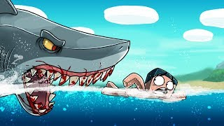 Jaws Movie 3 - EATEN ALIVE BY A SHARK! (Minecraft Roleplay)